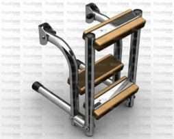 Scaletta In Legno Pieghevole : Scale archivi vendita accessori nautici in acciaio inox